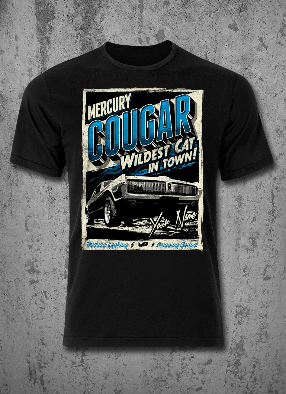 Image of Custom Cougar T-Shirt / Blue / Male