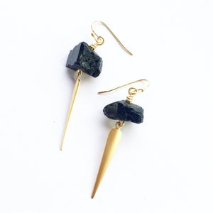 Image of Tourmaline Spear Earrings