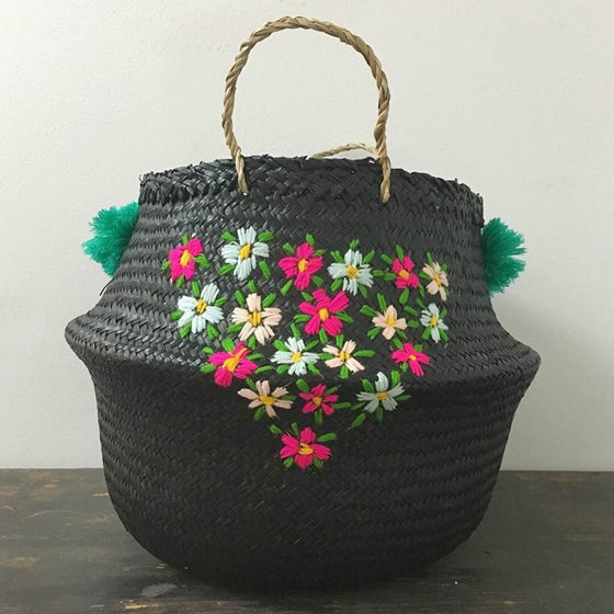 Image of venice basket - primavera black