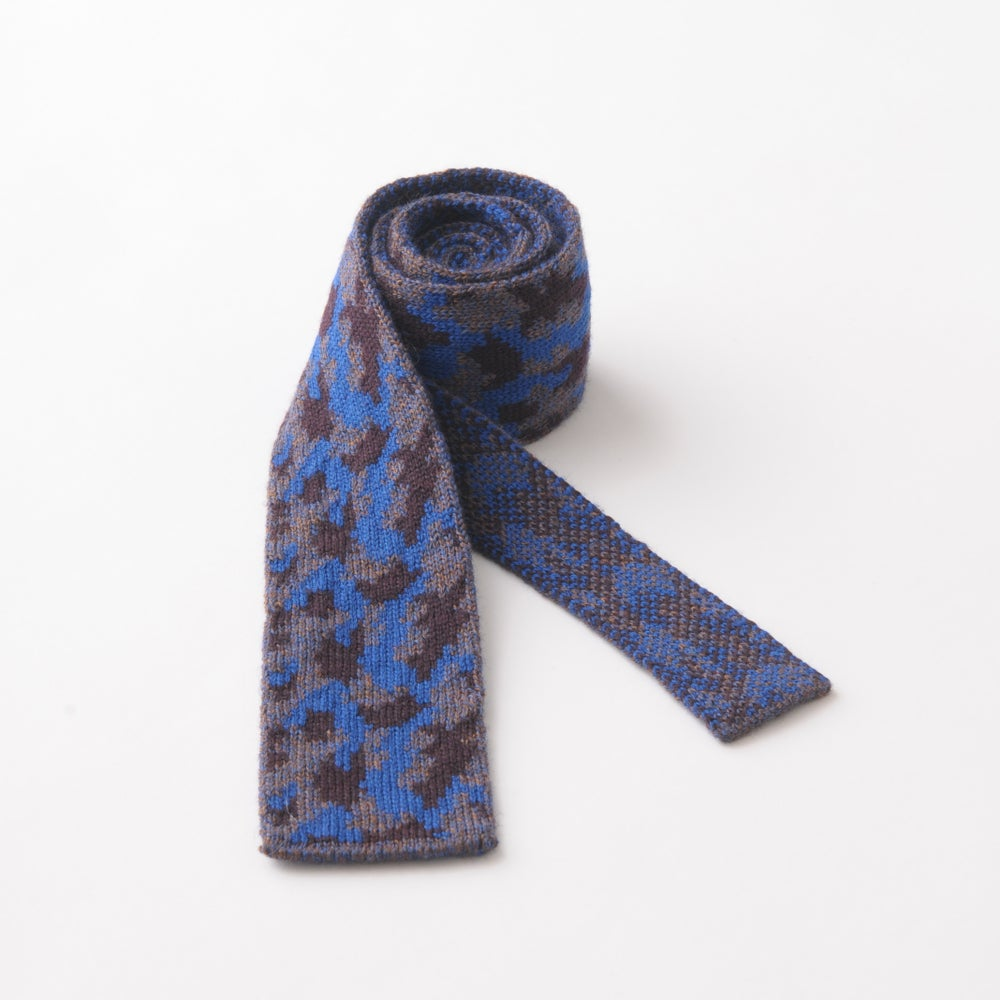Image of Camouflage Tie in Blue Mix