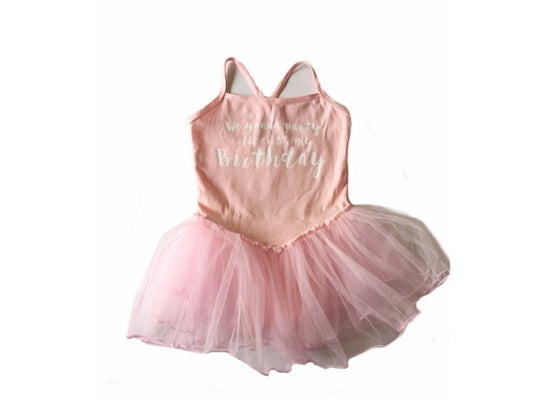 Image of BIRTHDAY LEOTARD DRESS PINK