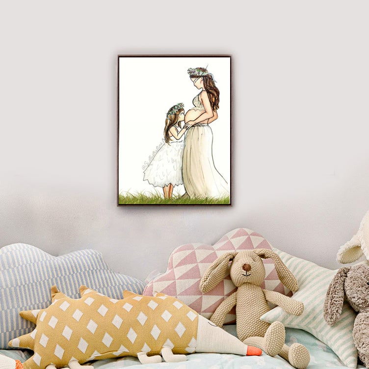 Image of Custom Maternity Illustration