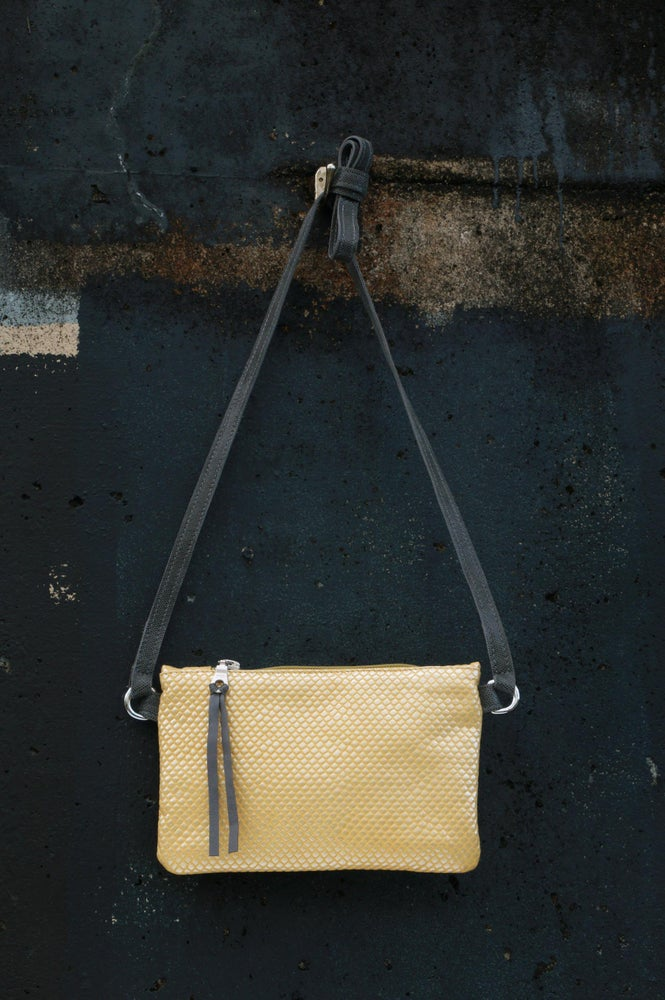 Image of Mini Chelsea Crossbody - lemon embossed