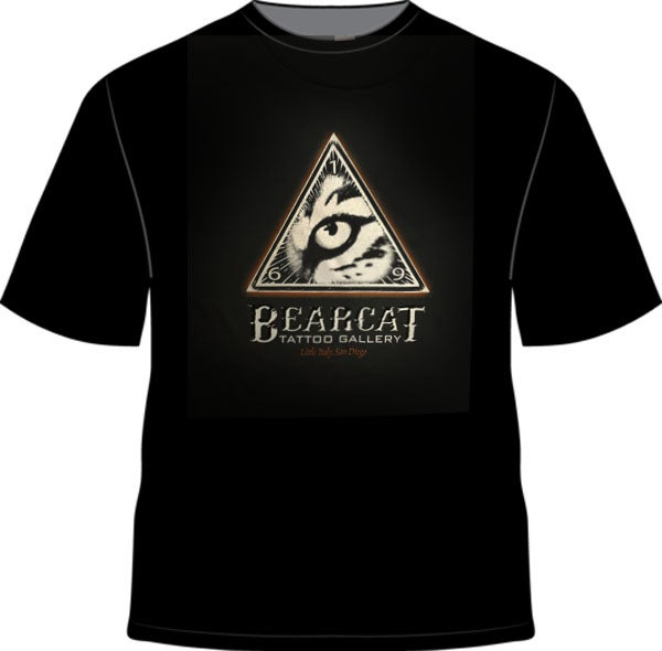 Image of Men's Bearcat Logo Black T