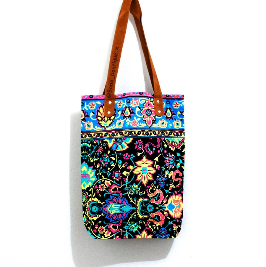 Image of Black and Blue Boho Bag