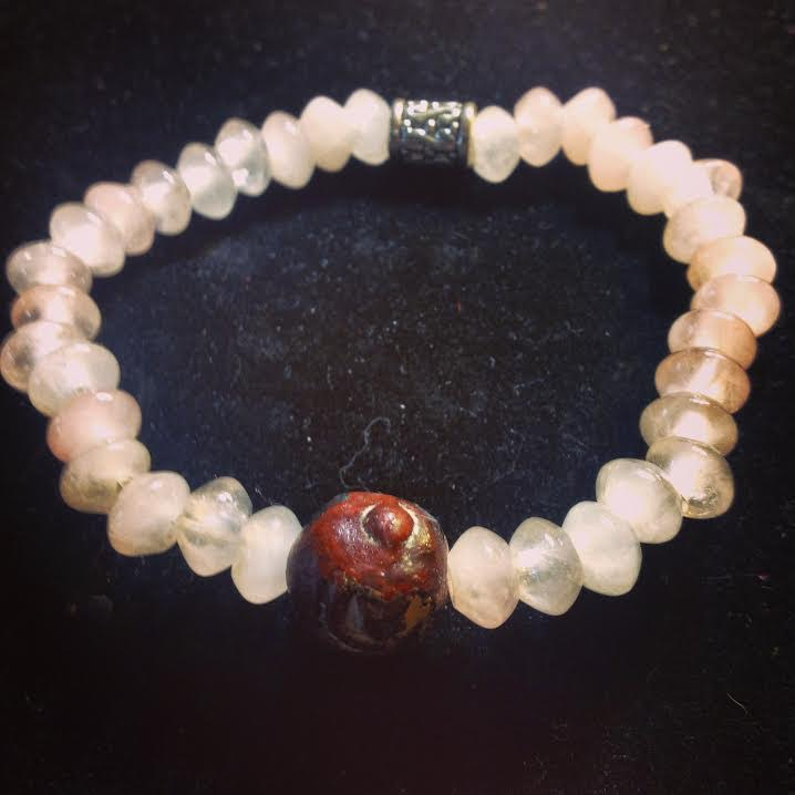 "Image of  ""Embracing Divine LOVE""  ~Guru Bead with Rose Quartz~"