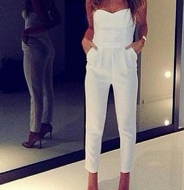 Image of SEXY STRAPLESS JUMPSUIT