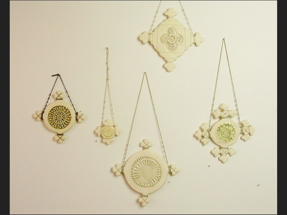 Image of set of 5 Hanging crosses