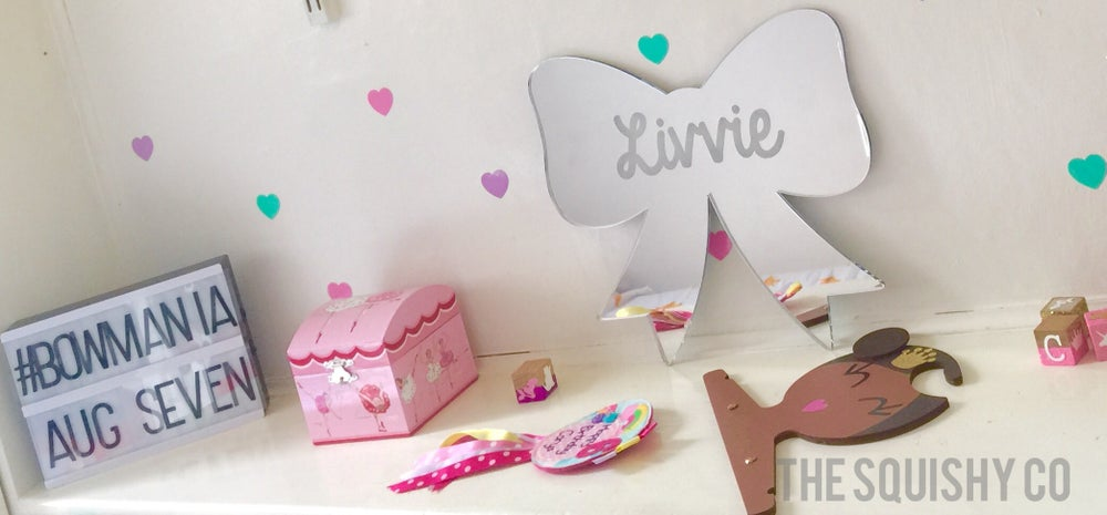 Image of Personalised mirrors - name shape, midi names, shooting star, arrow or bow