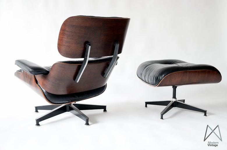 Image of Vintage Eames Rosewood lounge chair Herman Miller 60's