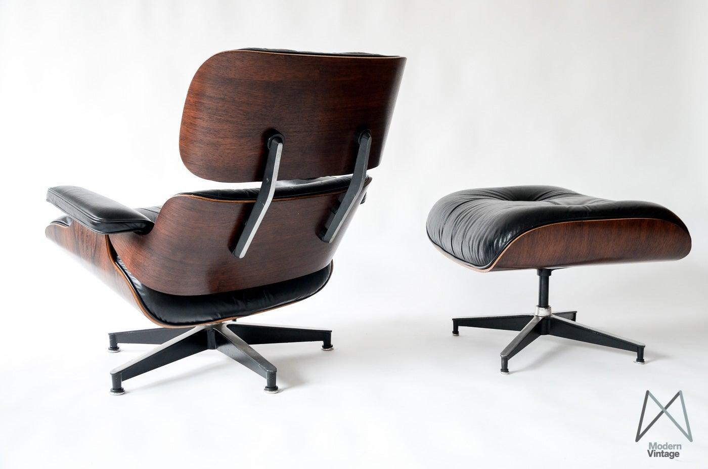 image of vintage eames rosewood lounge chair herman miller 60u0027s