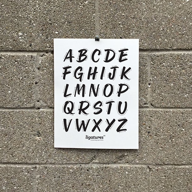Image of Brush Alphabet Print