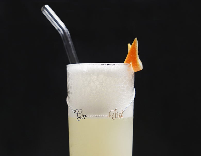 Image of Gin Fizz Cocktail Necklace