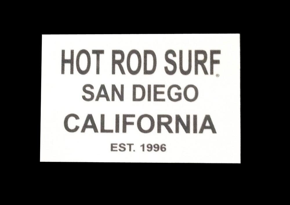 Image of HOT ROD SURF EST Sticker Decal ~ HOTRODSURF ~ Hot Rod Surf ® - White