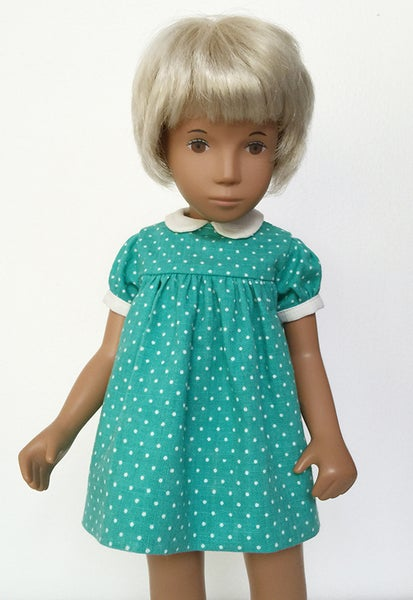 Image of Green Polka Dot Print Dress