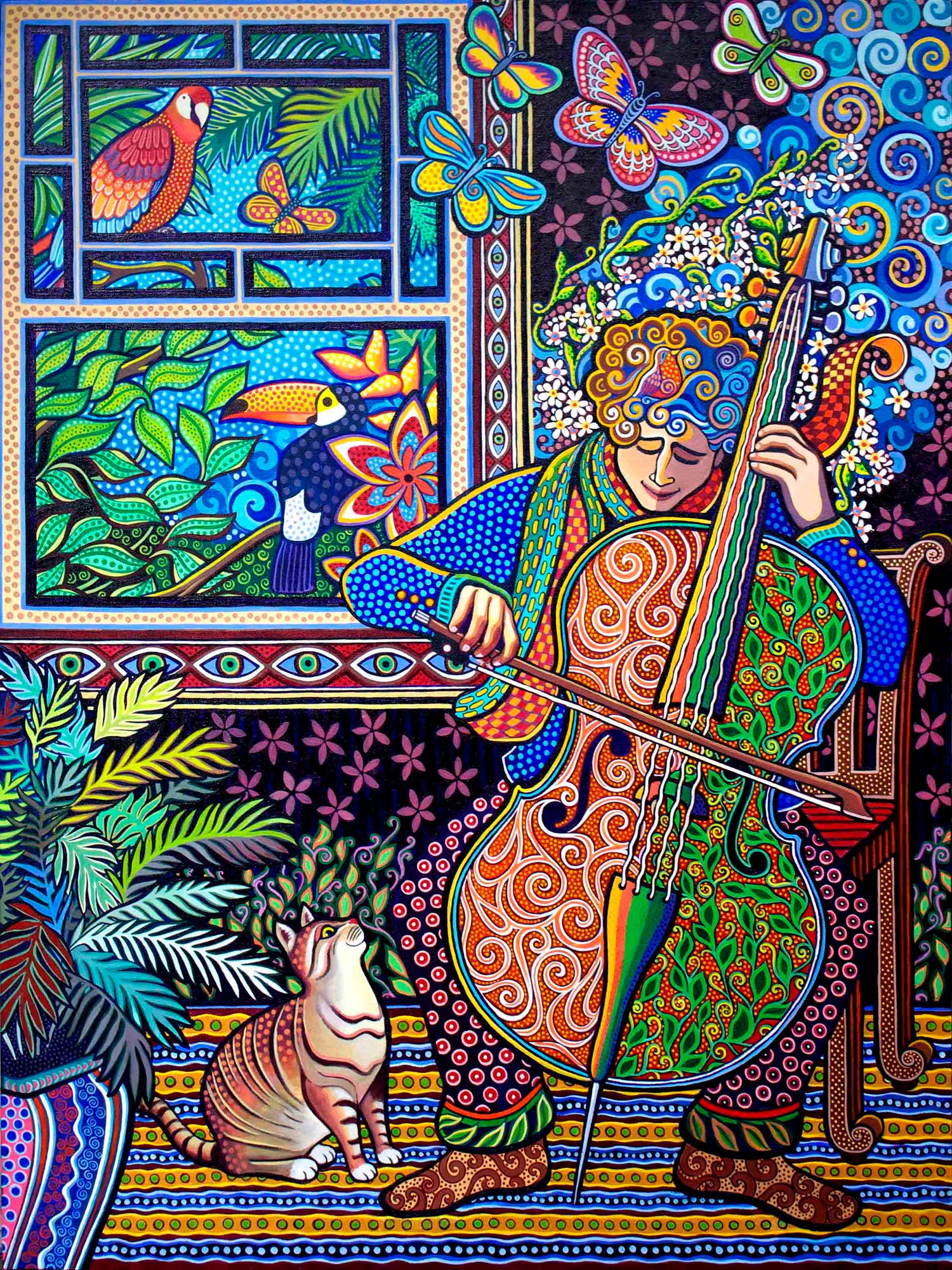 "Image of ""Cello Player"" Print"