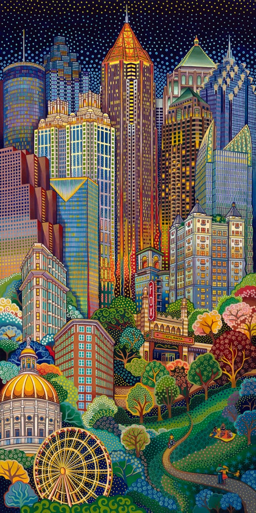 "Image of ""Atlanta City Scape"" print"
