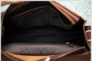 "Image of Handmade Leather Messenger Satchel / Briefcase / 13"" MacBook or 13"" Laptop Bag (n23-5)"