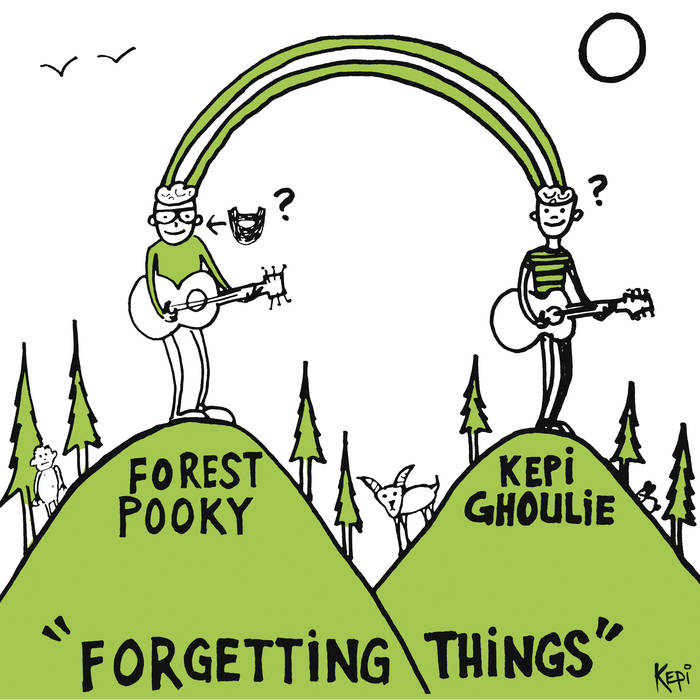 "Image of Kepi Ghoulie / Forest Pooky ""Forgetting Things"" (Split Lp)"