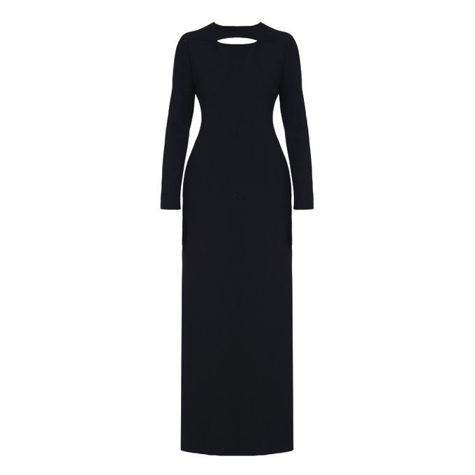 Image of Long Dress  Black