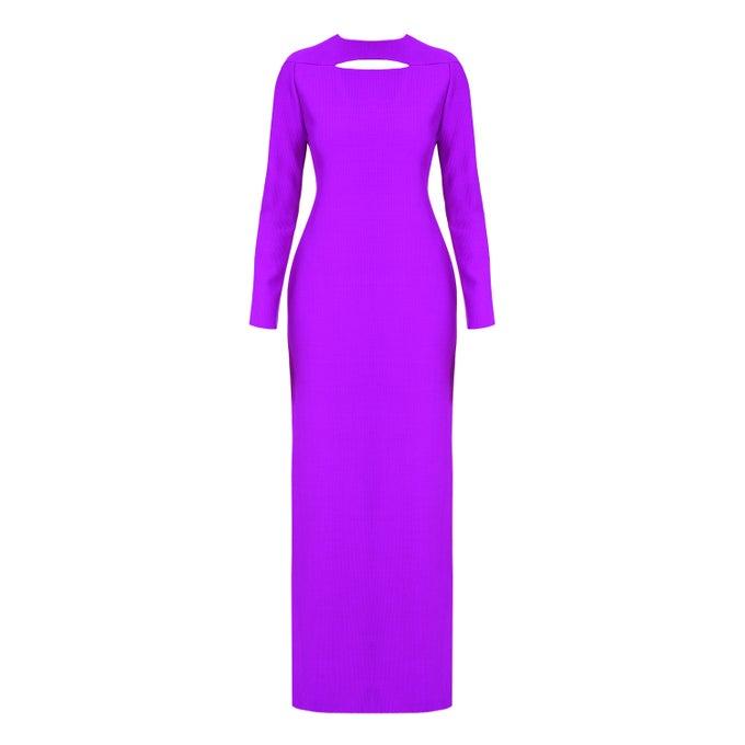 Image of Long Dress  Cyclamen