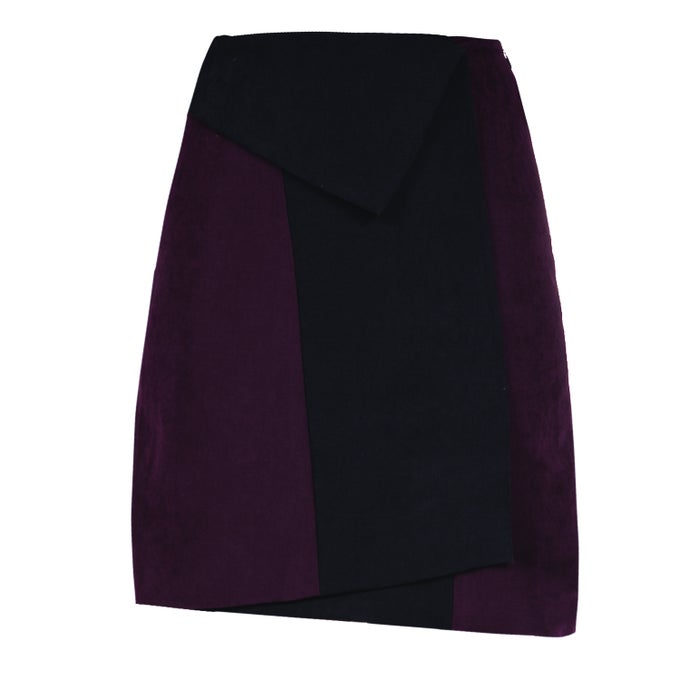 Image of Smocking Skirt| Ribes Black