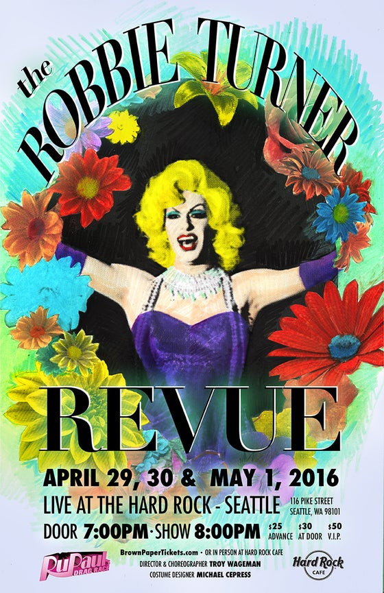 Image of Robbie Turner Revue Poster - April-May 2016