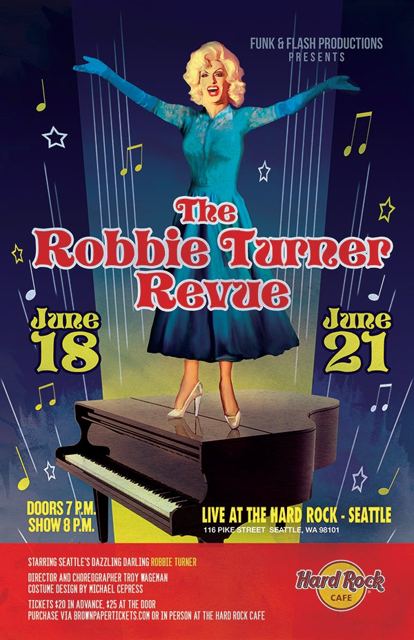 Image of Robbie Turner Revue Poster : June 18-21, 2015