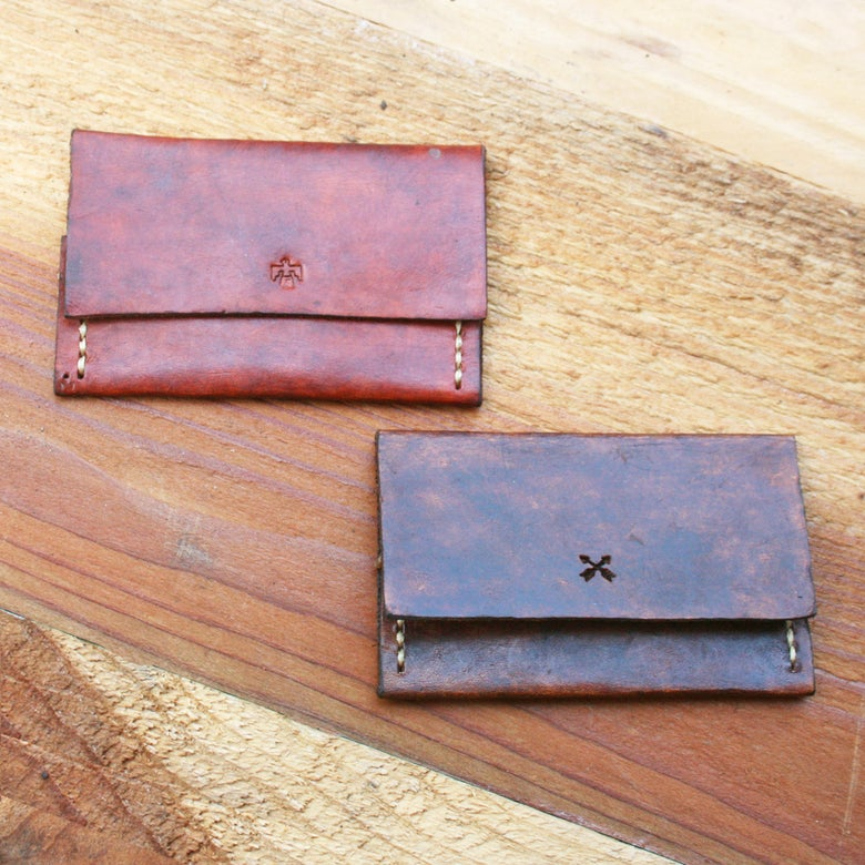 Image of Leather Beach Wallet ~ HOTRODSURF ~ Hot Rod Surf ® - qty 1
