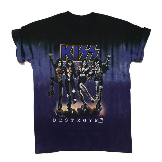 "Image of Rock Hard Vintage ""Double Wash"" Kiss T Shirt ""Purple"""