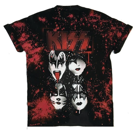 """Image of Rock Hard Vintage """"Double Wash"""" Kiss T Shirt """"Red"""""""