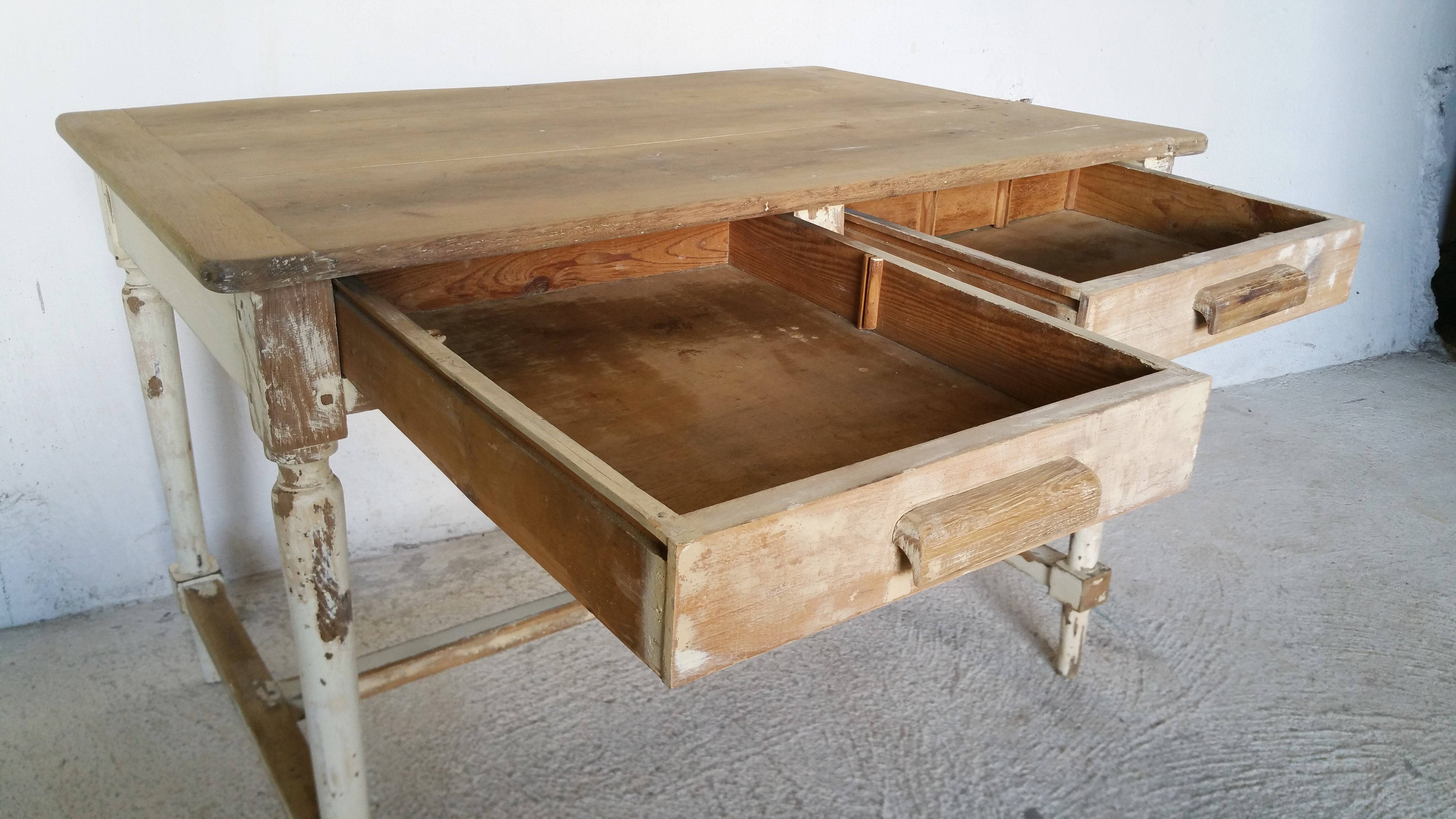 table campagnarde - deco shabby chic / fibresendeco - vannerie