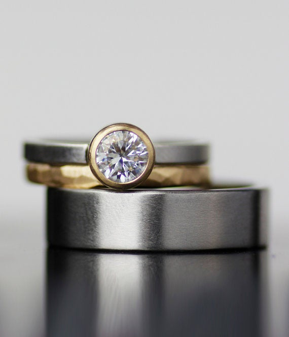 Image of moissanite and mixed metals 2