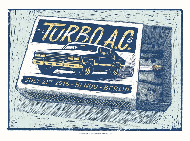Image of »The Turbo AC's« Gig-Poster
