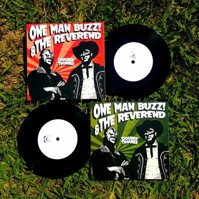 "Image of One Man Buzz & the Reverend ""Double Trouble"" double 7"" - TESTPRESS EDITION!"