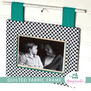 Image of NEW!!  Quilted Fabric Frame PDF Sewing Pattern