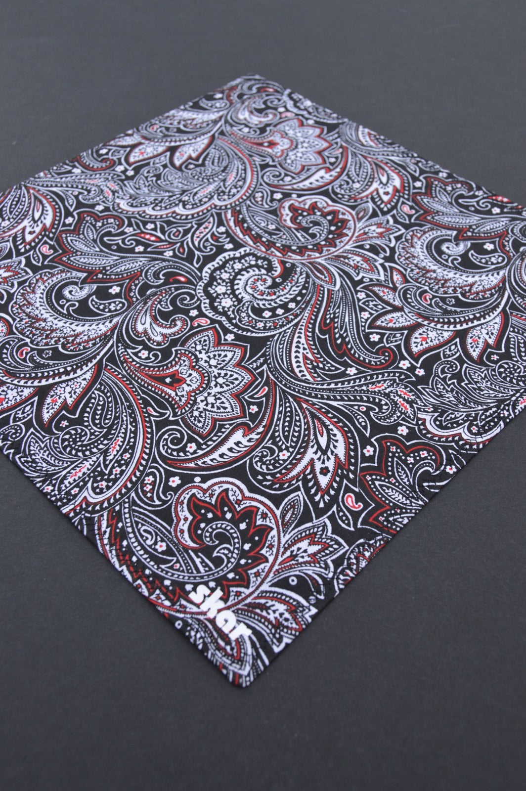 Image of Black and Red Paisley