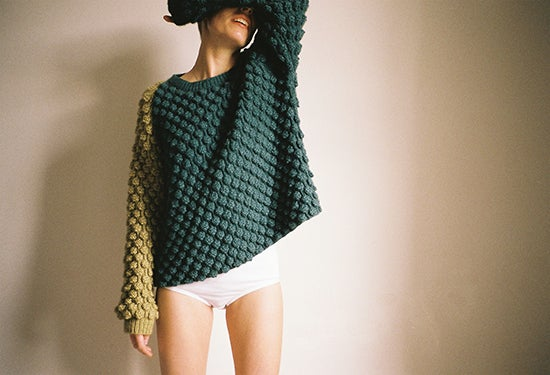 Image of Green Piece Cashmere Jumper