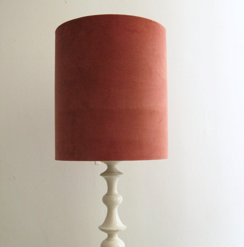 Image of HAND DYED VELVET DRUM LAMP SHADE