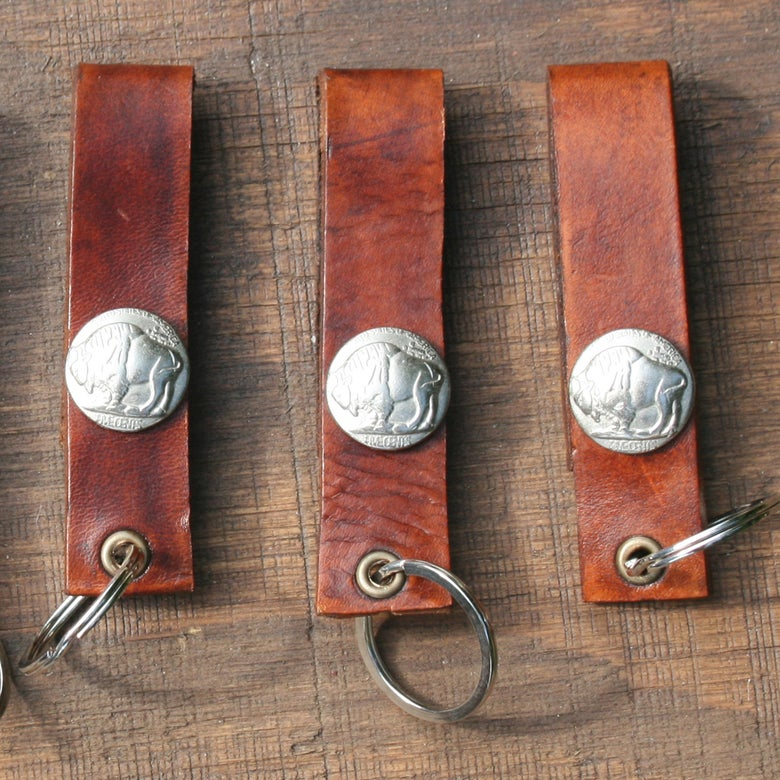 Image of Beltway Leather Key Chain ~ HOTRODSURF ~ Hot Rod Surf ®