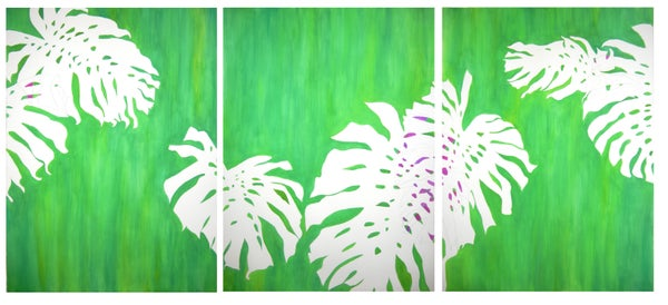 Image of Monstera Triptych No 15