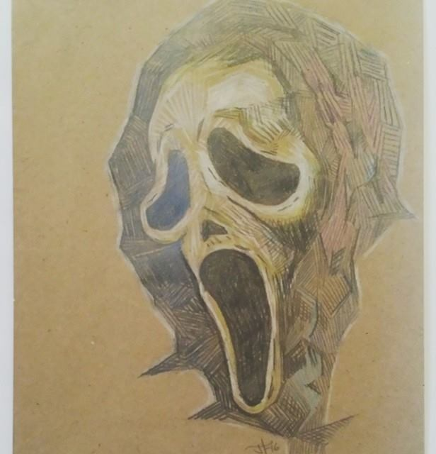 Image of Artosaurus Wrecks Movie Icon Prints - Ghostface