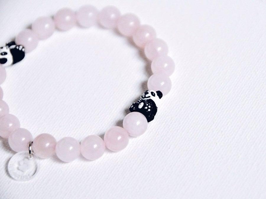 Image of Rose Quartz Panda Bracelet