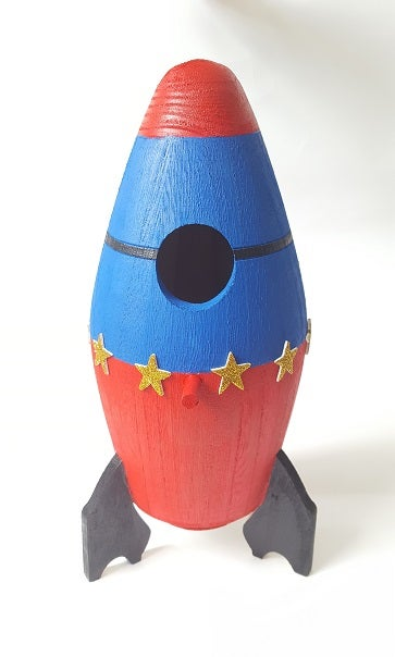 Image of Rocket Birdhouse