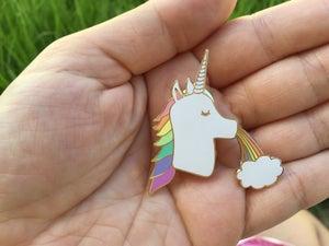 Image of Unicorn Rainbow Enamel Pin