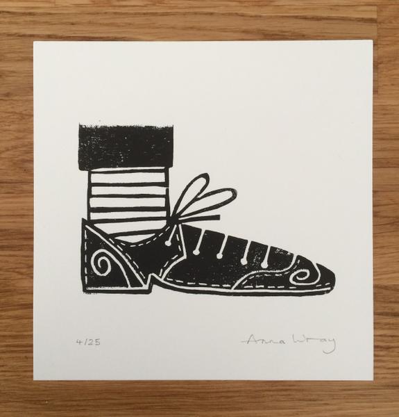 Image of 'Good shoes' mini print