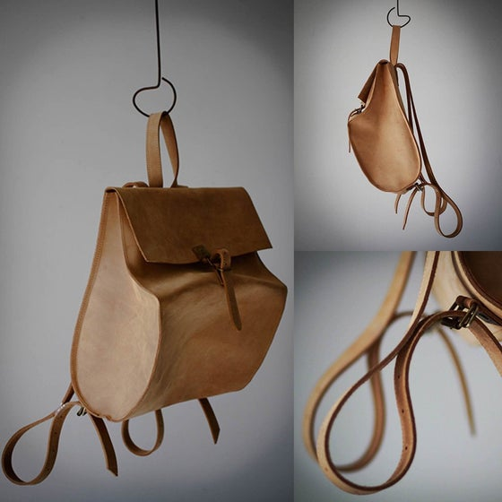 Image of LEATHER BACKPACK LBDBP1525 CAMEL