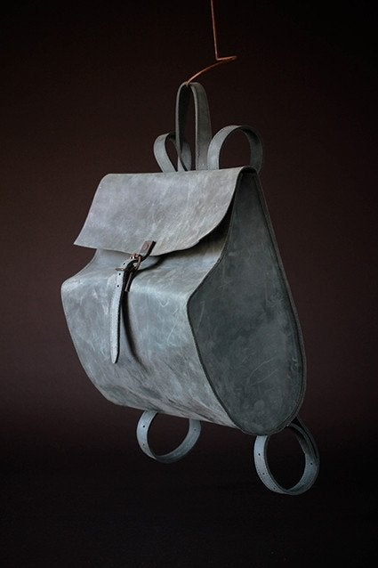 Image of LEATHER BACKPACK LBDBP1525 GREY