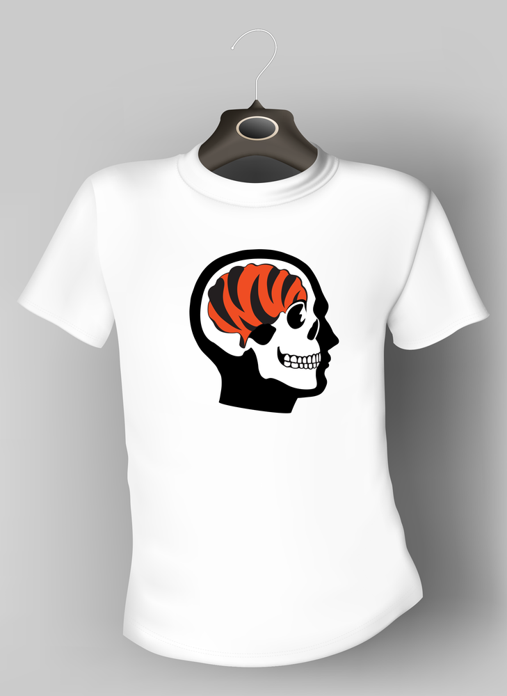 Image of 'Bengals on the Brain' T-shirt - White