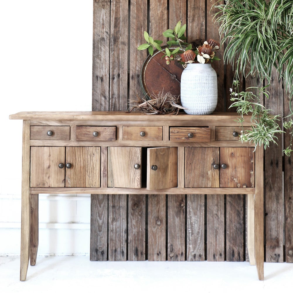 Image of Rustic Elm Wide Console